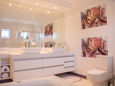 Our clients clean residential bathroom
